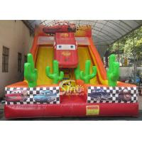Wholesale 6m high kids extreme speed race inflatable car slide for kids outdoor entertainment from china suppliers