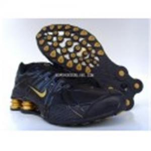 China Mens Nike Shox OZ black/gold on sale