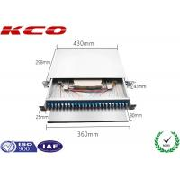 Wholesale Duplex LC 1u Fiber Optic Patch Panel Drawer Network Termination 48 Cores Rack Mount from china suppliers