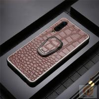 China Hot Selling Wholesale High Quality Embossed Crocodile Skin Pattern Genuine Leather Cell Phone Case Back Cover on sale