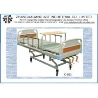 Quality Triple Crank Foldable Manual Hospital Bed Three Function Aluminum Alloy with Dinning Table for sale