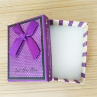 China Design Series Cotton Filled Jewelry Box Shimmer Bow Tie Jewelry Boxes Custom Paper Gift Box for sale