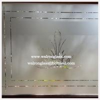 Wholesale 4mm 6mm 8mm 10mm 12mm sandblasted/acid etched glass for Glass walls/Glass doors from china suppliers