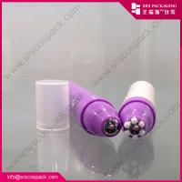 Wholesale 1/3oz 10ml new design ailess pressed 6 flowers outer roll-on bottle for eye cream from china suppliers