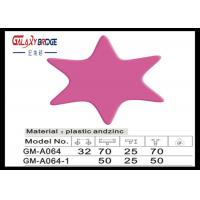 Pink Star Soft Kids Bedroom Knobs Customized Color Closet Pulls ISO Certified