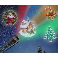 Wholesale Christmas Indoor Super Bright LED Flashlight , Handheld Projector Black Blue from china suppliers