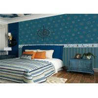 Lovely Deep Blue Kids Bedroom Wallpaper Water Resistant OEM ODM Service