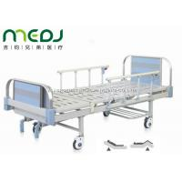 China Double Crank Blue Hospital Bed Equipment MJSD05-09 With Four Ordinary Castors on sale