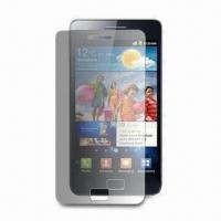 Wholesale Anti-glare Protector for Samsung Galaxy S II, with Static Adsorption, Made of High Transparency Film from china suppliers