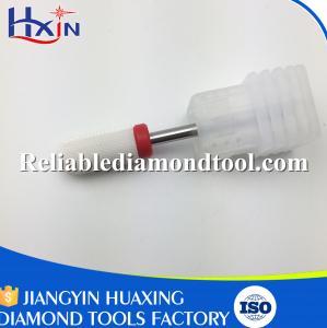 Best Shank Head 2.35mm Fine Barrel Ball  White Ceramic Burr for Nail Over Length 40mm wholesale
