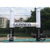 Wholesale White N Black Guinness inflatable advertising arch for outdoor promotion activities from china suppliers