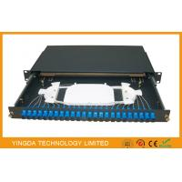 China SC FC LC ST ODF Fiber Optic Patch panel 24 Port / network Patch Panel on sale