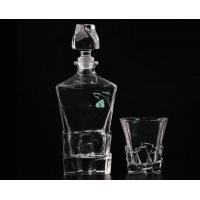 China Decal Recycled Wine Bottle Glasses , Wine Glass Storage Containers on sale