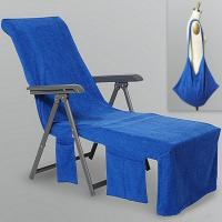 Wholesale Microfiber Sun Lounger Mate Beach Towel Carry Pockets Bag For Holiday Garden from china suppliers