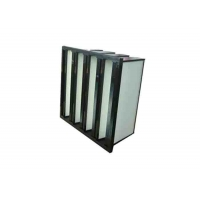 Wholesale Plastic Frame Dust Holding V Bank Air Filters With Fiberglass Medium Material from china suppliers