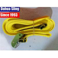 """Wholesale Yellow 2""""X20' E track Ratchet Tie Down Straps with Cam buckle w- 4' short end. Assembled from china suppliers"""