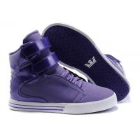 Wholesale Cheap Supra TK Society Women High Top Shoes Purple from china suppliers