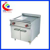 China Commercial Electric Griddle Half Flat And Half Grooved Induction Griddle With Cabinet for Restaurant on sale