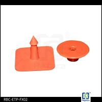 Buy cheap Red Colour TPU Material RFID Livestock Tags Ear Tags For Diary Farm Pigs from wholesalers