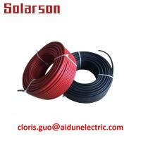 Wholesale 1000V DC TUV waterproof UV resistance XLPE double insulation 4mm 12AWG solar PV cable from china suppliers