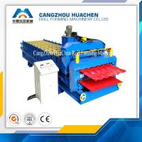 Best High Speed Double Layer Corrugated Roll Forming Machine Panasonic PLC Control System wholesale