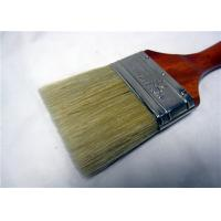 Best White Bristle Flat Round Paint Brush For Oil Based Paint / Wall Painting wholesale