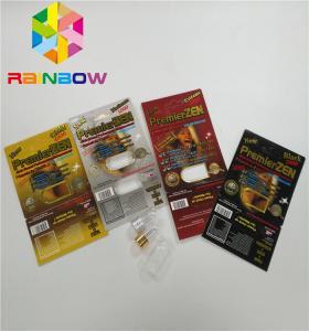 China Premierzen Blister Card Packaging Custom Child Resistant Botton Lock 3D Card Paper Box on sale