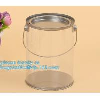 Wholesale 100ml pet clear plastic can,fruit candy tin container jars with aluminum lid,1 gallon clear paint can size bagease pack from china suppliers