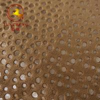 China 2mm 250gsm Hot Stamping Gold Stamp and Foil Printing velour fabric for Car Seat Cover and furniture for sale