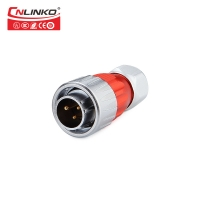 China Cnlinko Zinc Alloy Shell M20 Industry 500V 12A Power Connector 3 pin Waterproof LED Connector with Dust Cover on sale