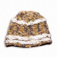 Wholesale Knitted Women's Hat, Made of 30% Wool and 70% Acrylic from china suppliers