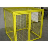 Wholesale Multi Colors Flammable Storage Cage , Gas Bottle Safety Cages Removable from china suppliers