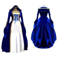 Wholesale Medieval Dress Wholesale XXS to XXXL Cosplaydiy Blue&White Victorian Medieval Renaissance Dress Cosplay Costume from china suppliers