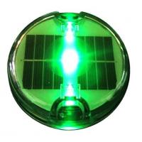China Solar embedded led road stud with green flashing super bright led light on sale
