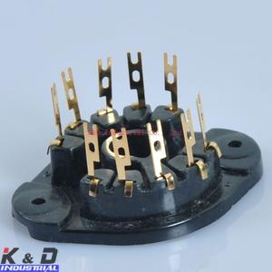 Wholesale Gold 10 Pin Tube Socket EL156 EL12 EYY13 EF14 AZ12 from china suppliers