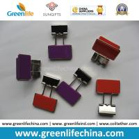 China Colorful Rectangle Plastic Handle Binder Clips Ready for Company Logo on sale