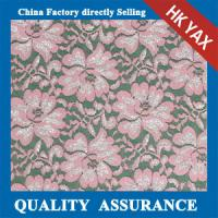 Wholesale 2014 china factory wholesale new design High quality Popular Rose design metallic lace fabric wholesales for costume from china suppliers