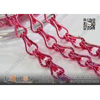 China Pink Color Aluminum Mesh Chain Fly Screen for Architectural Decorative Curtain on sale