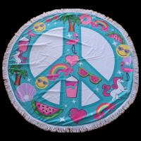 Wholesale New design promotional microfiber circular beach towel round beach towel for Christmas from china suppliers