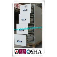 Wholesale Steel Waterproof Fire Resistant File Cabinet , Two Drawer Fire Rating Storage Cabinet from china suppliers