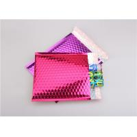 Wholesale Pink Metallic Bubble Mailers / Bubble Wrap Envelopes For Electronic Products from china suppliers