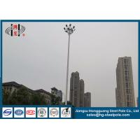 Hot Dip Galvanized Steel Tapered Electric Light Pole RAL Paint Q420 25m Height