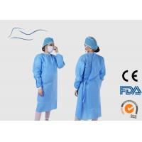 Blue Disposable Surgical Gown Eco Friendly Material CE / ISO Certification for sale