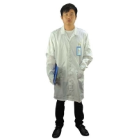 Wholesale Cleanroom Lab Blue White Static Dissipative ESD Smock from china suppliers