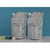 China Custom  Eco Friendly Spout Pouch Bags In Stand Up Bottom For Liquid Refill Soap Pack for sale