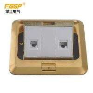 China Popular CAT 6 Network 2 Port RJ45 Floor Socket , Electrical Floor Box on sale