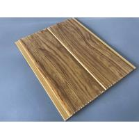 Wholesale 5mm Thickness Ceiling PVC Panels For Kitchen Two Golden Line Wooden Color from china suppliers