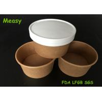 Wholesale Insulated 8oz Kraft Thick Paper Soup Bowl With Non vented Paper Lid from china suppliers