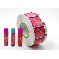 China Hard - Wearing Custom Adhesive Labels Pink Color Non Toxic For Lip Balm for sale