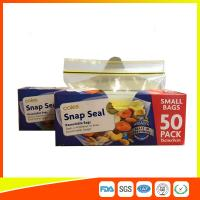 Wholesale Small Transparent Zip Up Reusable Snack And Sandwich Bags 15 * 9cm from china suppliers